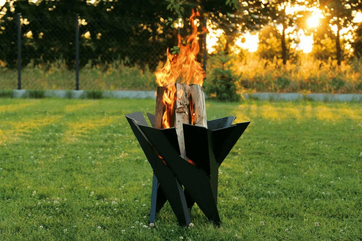braciere barbecue legno da giardino basket