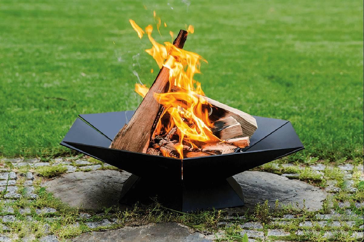 braciere barbecue legno da giardino goblet
